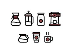 Coffee Icons by Eric Munoz