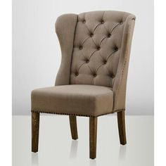 SixBondStreet - Cambridge Wingchair - Beige Decor, Furniture, Accent Chairs, House, Home, Dining, Chair, Inspiration, Dining Chairs
