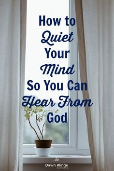 How to Quiet Your Mind So You Can Hear From God I meditation I Christian living I Quiet Spirit I minimizing distractions I Bible study I Above the Waves II Prayers and how to pray Prayer Scriptures, Bible Prayers, Bible Verses, Motivational Scriptures, Bible Notes, Faith Bible, Faith Prayer, Christian Living, Christian Faith
