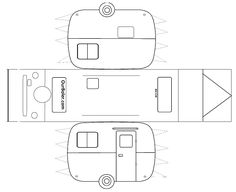 With no paper toy templates for Boler Trailers we made our own.