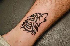 wolf tattoo tribal