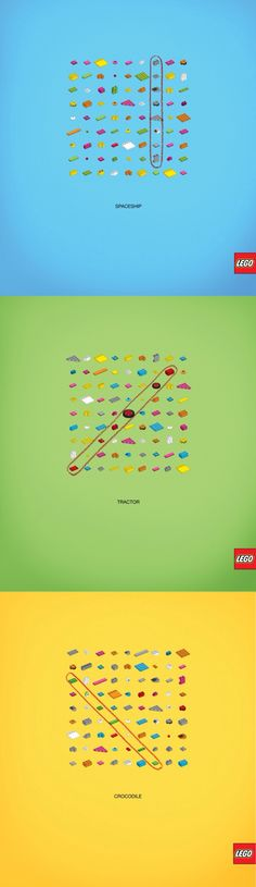 "Lego ""Word Puzzle"" ad campaign"