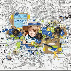 """#schoolcool #boys"" Kit by Two Tiny Turtles, Amanda Yi & Studio Basic Designs http://www.sweetshoppedesigns.com/sweetshoppe/product.php?productid=31666&cat=770&page=1"