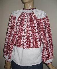 Antique hand embroidered Romanian blouse from Oltenia /size L available at www.greatblouses.com Folk Embroidery, Embroidered Blouse, Blouses, Costumes, Antiques, Tops, Dresses, Women, Fashion