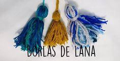 Como hacer sencillas borlas de lana paso a paso.