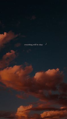 Aesthetic Quotes Discover everything will be okay Iphone Quotes Wallpaper Sky Heres a wallpaper for you! Sky picture does not belong to me (so ctto). Wallpaper Iphone Quotes Backgrounds, Dark Wallpaper Iphone, Words Wallpaper, Iphone Wallpaper Tumblr Aesthetic, Sad Wallpaper, Iphone Background Wallpaper, Aesthetic Pastel Wallpaper, Aesthetic Wallpapers, Screen Wallpaper