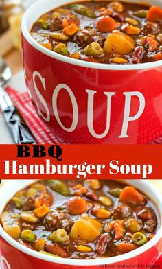 Barbecue Hamburger Soup