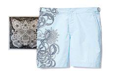 Orlebar Brown tattoo inspired swim shorts