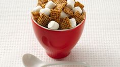 Butter, brown sugar and honey sweeten this snack mix, while cinnamon and rum…