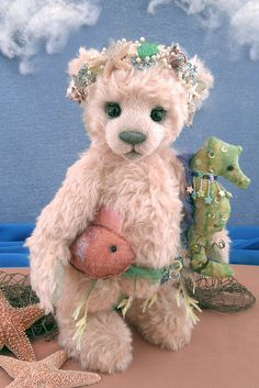 stuffed bear with accessories