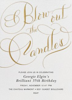 Blow Out The Candles Script