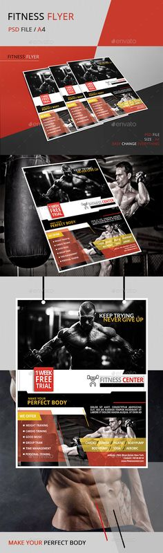 Fitness Flyer Template  Flyer Template Template And Fonts