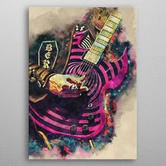 Zakk Wylde Electric Guitar Pop Art Poster Print | metal posters - Displate