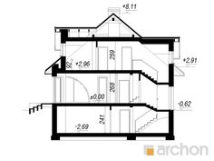 Dom w zefirantach 5 (P) 1, Floor Plans, Flooring, How To Plan, Create, Ideas, American Houses, Interiors, Projects