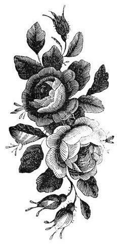 Temporary Tattoo 2 Patterns of Vintage Rose by TattooNbeyond