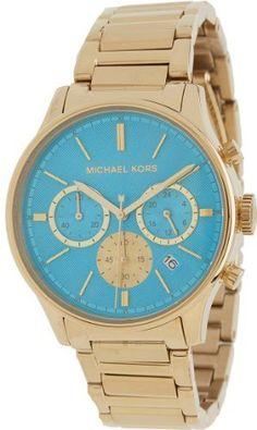 Michael Kors Chronograph Turquoise Dial Gold-tone Ladies Watch MK5910