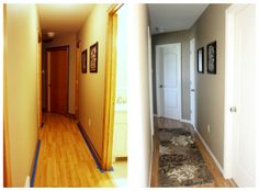 Painting oak trim, before/after