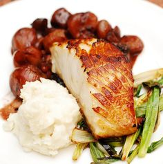 Best way to prepare black cod: Black cod with balsamic-shallot sauce and mashed potatoes.