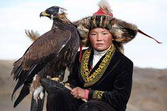 La chasse avec des aigles en Mongolie                              …