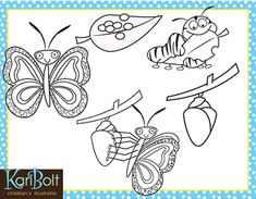 Butterfly Life Cycle Free Clip Art by Kari Bolt Clip Art Butterfly Clip Art, Butterfly Life Cycle, Classroom Displays, Life Cycles, Cycling, Activities, Digital Papers, School, Illustration