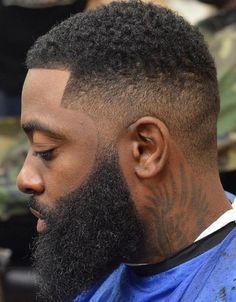 High Fade With Beard