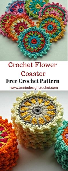 Most up-to-date Photographs Crochet coasters flower Style Flower Motif Coasters – Free Crochet Pattern Mandala Au Crochet, Crochet Motif Patterns, Crochet Designs, Afghan Patterns, Mini Mandala, Doodle Patterns, Amigurumi Patterns, Stitch Patterns, Love Crochet