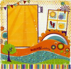Backyard Adventure 12x12 Premade by SusansScrapbookShack on Etsy