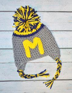 newborn crochet hat  U of M Customize to your by SweetBabiesinYarn, $15.00