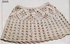 Beige Miniskirt free crochet graph pattern