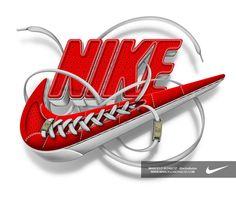Nike - Futura logo by Marcelo Schultz, via Behance - Typography Design Modelling