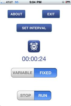 Interval Minder ($2.99) Only iPhone timer app with a variable/random looping function.    Designed for use by Educators, Behavior Analysts, Psychologists, and other professionals. An interval timer -will alert the user continuously for a fixed or variable time interval. Users may choose one or a combination of Alert Types: screen flash, vibrate, and tone.    Can be used for behavior modification, personal improvement, education, sports, and business.