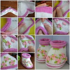 How to Make Pretty Knitted Baby Booties | iCreativeIdeas.com Like Us on Facebook ==> https://www.facebook.com/icreativeideas