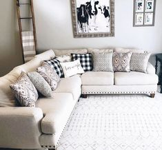 Vintage Decor Living Room Love a cozy weekend in. The Trenton Sectional looks right at home in the living room of Living Room Update, Furniture, Home, Living Room Sectional, Living Room Diy, Home Decor, Living Room Designs, Room Interior, Farmhouse Decor Living Room