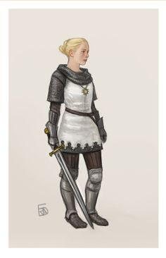 f Paladin Chainmail Armor Sword Symbol lwlvl urban farmland ArtStation - Dungeons and dragons characters, Frida Bergholtz Dungeons And Dragons Paladin, Dungeons And Dragons Characters, Dnd Characters, Fantasy Characters, Female Characters, Fictional Characters, Fantasy Character Design, Character Concept, Character Art