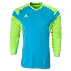 adidas Precio 14 Blue Neon Soccer Goalkeeper Jersey - model F50681 - Only   31.49 Goalie e16131ffe