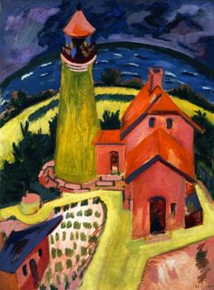The Lighthouse of Fehmarn 1912 Ernst Ludwig Kirchner oil on canvas 120 x 91 cm