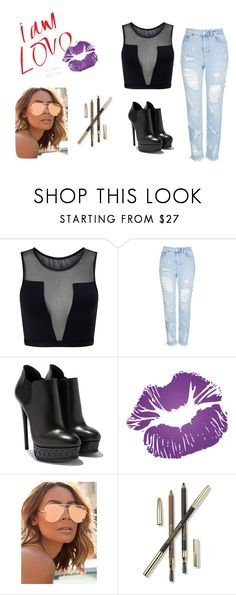"""hangout"" by redeem181 on Polyvore featuring Varley, Topshop, Quay, Lancôme and Musically"