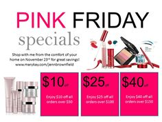 Specials are good from 11/20-23  www.marykay.com/jennbrownfield  Free Shipping!