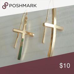 Gold plated cross earrings Gold plated cross earrings Jewelry Earrings