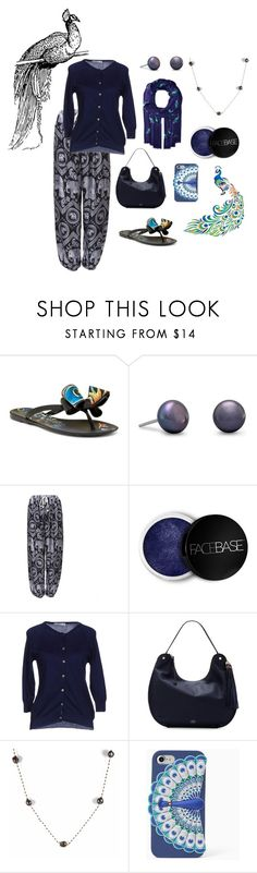 """""""Peacock 4"""" by foxxyslang ❤ liked on Polyvore featuring Dizzy, FaceBase, Peacock Blue, Vince Camuto, Keishi Jewellery and Kate Spade"""