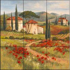 Tile Mural - Tuscan Dream I - Kitchen Backsplash Ideas - Mediterranean - Tile Murals - by The Tile Mural Store (USA)