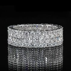 Idée et inspiration Bague Diamant : Image Description Marquise and Round Diamond Eternity Band #wedding #engagement #ring