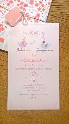 Convite de Casamento Pássaros