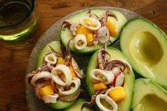 Curried Calamari Ceviche with Mango and Avocado