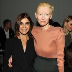 Corine Roitfeld and Tilda Swinton. ICONS!