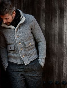 ♂ Masculine & elegance men's fashion wear classy grey