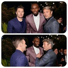 2016 GQ Men of the Year Party - Inside Actor Joel Edgerton, Olympic Gold Medalist Usain Bolt, and Actor Mads Mikkelsen attend the 2016 GQ Men of the Year Party at Chateau Marmont on December 8, 2016 in Los Angeles, California. @GettyImages #MadsMikkelsen #OlympicGoldMedalist #UsainBolt #JoelEdgerton #GQ #GQMenoftheYearParty2016 #ChateauMarmont #LosAngeles #California