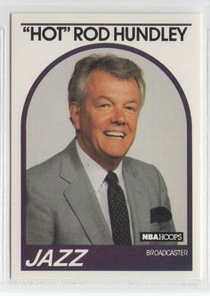 Hot Rod Hundley 1989 Hoops Announcers card Utah Jazz Mint