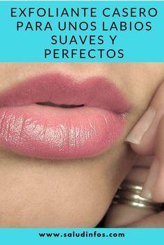 Exfoliante Casero para unos Labios Suaves y Perfectos #Labios #Suaves #Perfectos Girl Tips, Facial Care, Natural Skin Care, Skin Care Tips, Hair Beauty, Lipstick, Face, Makeup, How To Make