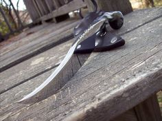 Blacksmith Hand forged Railroad spike  knife by RPLRAVEN on Etsy